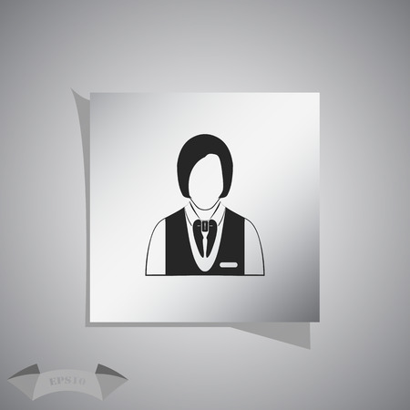 valet: Waitress icon Illustration