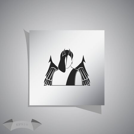 fiend: Devil icon. Illustration