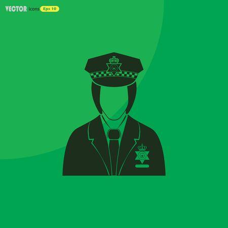 female cop: England Policeman Vector icon Illustration