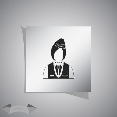 stewardess: Stewardess icon Illustration