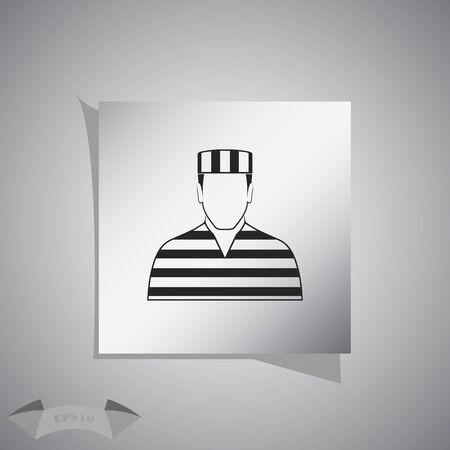 jailhouse: Prisoner Vector icon