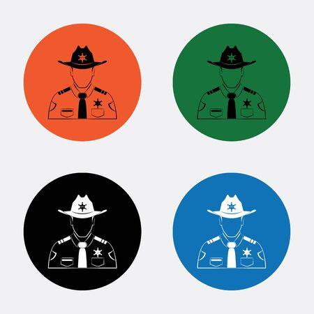deputy: Sheriff Vector icon