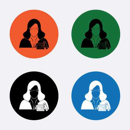 librarian: Librarian icon Illustration