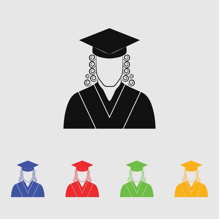 courtroom: Judge icon avatar. Vector Icon Illustration
