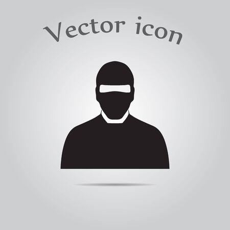 assassin: Man in balaclava Illustration