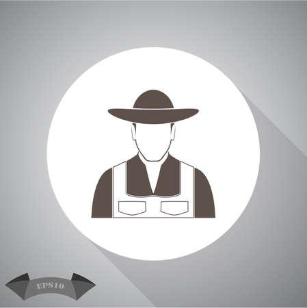 agrarian: Farmer icon