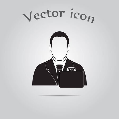 diplomat: businessman with diplomat vector icon.
