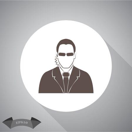 bodyguard: Bodyguard agent man simple icon
