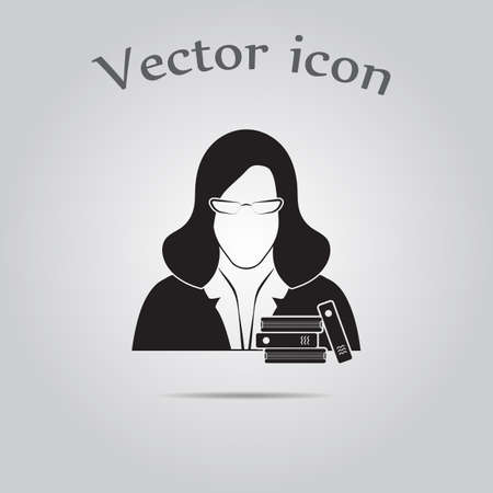 librarian: Librarian icon Illustration