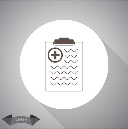 diagnose: Medical document vector icon