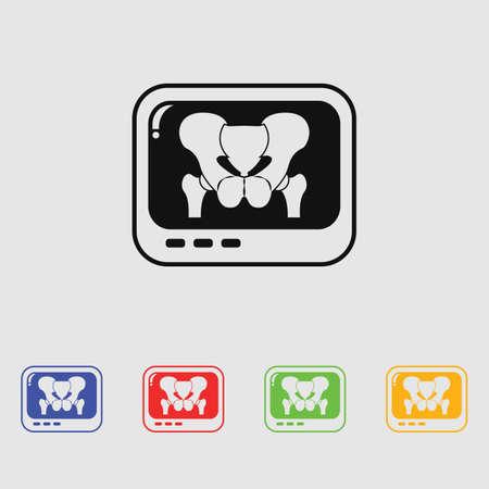 x xray: X-rays of the pelvis icon