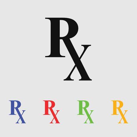 símbolo de la medicina: Rx icono de la medicina farmacia
