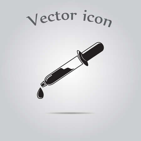 pipette: Pipette icon Illustration
