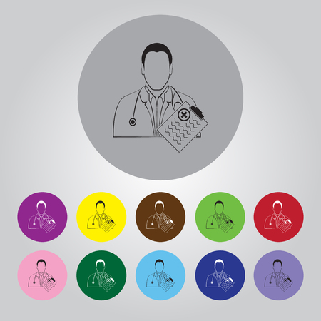 historia clinica: Doctor medical notepad icon