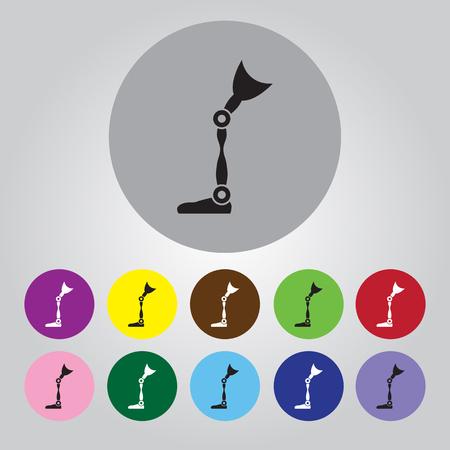 prosthetic: prosthetic leg icon Illustration