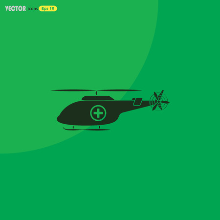 helicopter rescue: Medical helicopter icon