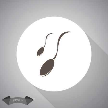 fertilize: Sperm icon Illustration