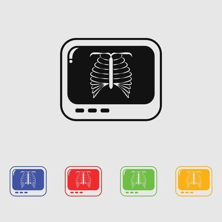 chest xray: chest X-ray icon