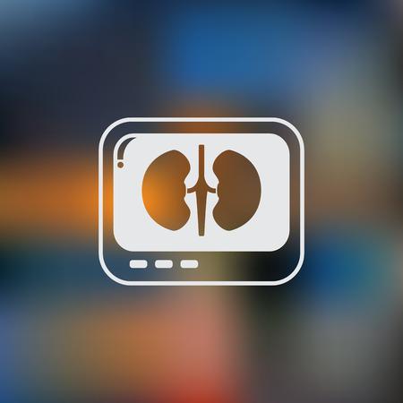 diagnose: X-ray of kidney. icon. Illustration