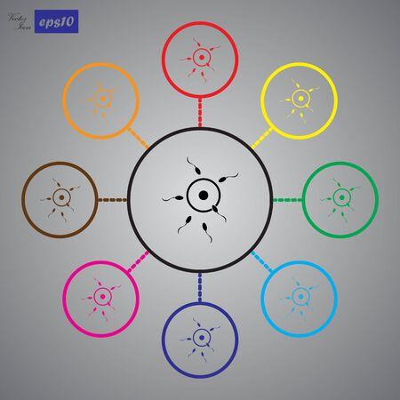 procreation: Sperm icon Illustration