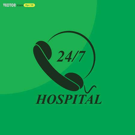twenty four hour: Support emergency icon