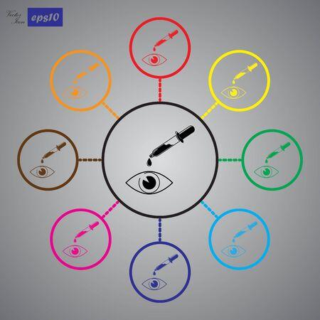 utilities: Eye drop icon Illustration