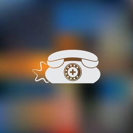 phone: Clinic Phone vector icon.