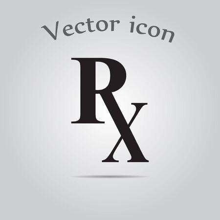 rx: Rx pharmacy medicine icon