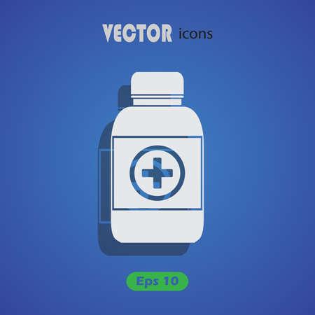 phial: Medicine bottle icon