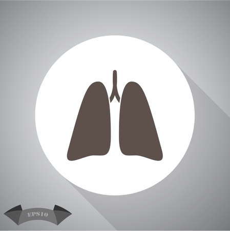 inhaling: Lungs icon