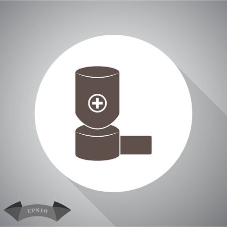 inhaler: inhaler icon Illustration
