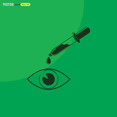eyedropper: Eye drop icon Illustration
