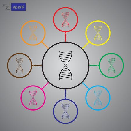 heredity: Vector DNA icon Illustration