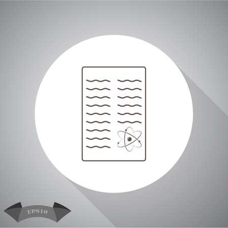 report icon: Scientific report icon