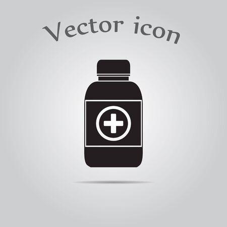 bottle of medicine: Medicine bottle icon