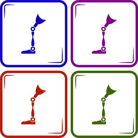 prosthetic leg icon Vector Illustration