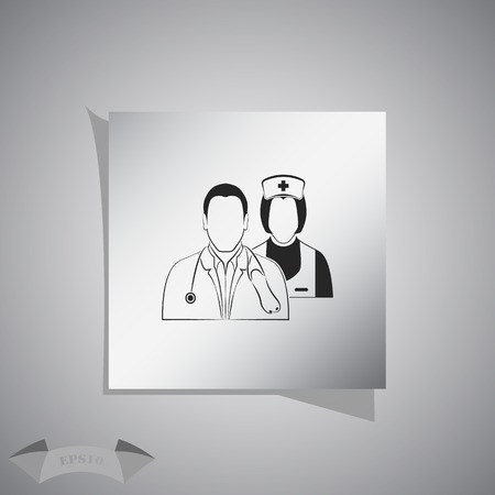 personal medico: Icono personal m�dico Vectores