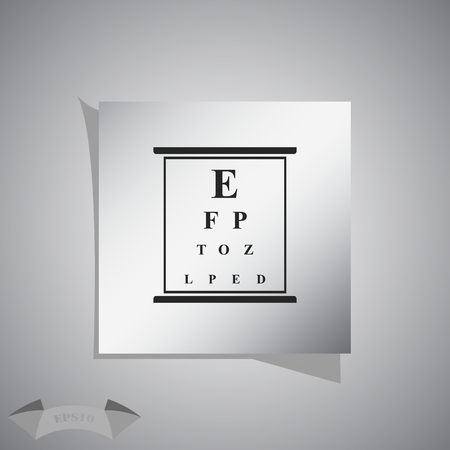 eye exams: Eye test chart