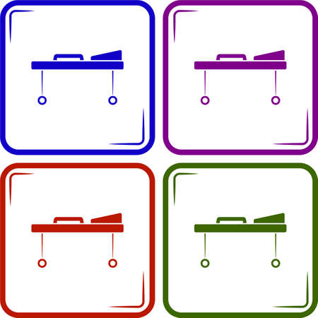 hospital bed: Hospital bed vector icon Illustration