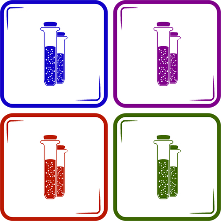 drug discovery: Test-tube icon