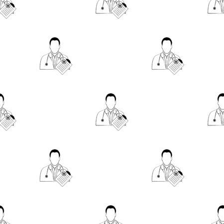 historia clinica: Icono del doctor libreta médica