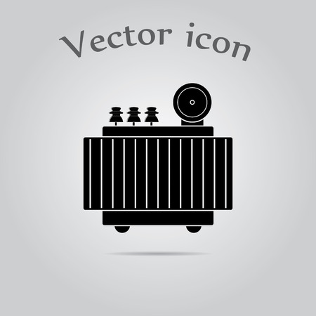 transformer: High voltage transformer icon. Illustration