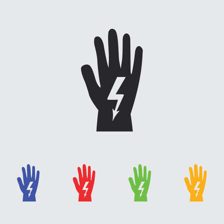 danger to life: electrical gloves icon