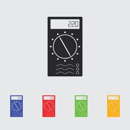 Multi meter Simple Icon. Illustration