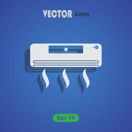 ionizer: Air conditioner icon Illustration