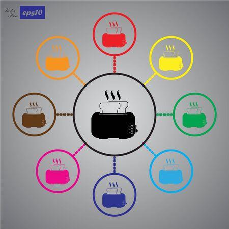 Toaster Icon Illustration