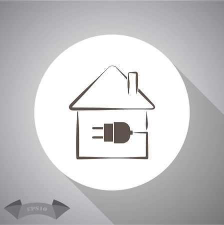 plug adapter: electric house plug icon. Illustration