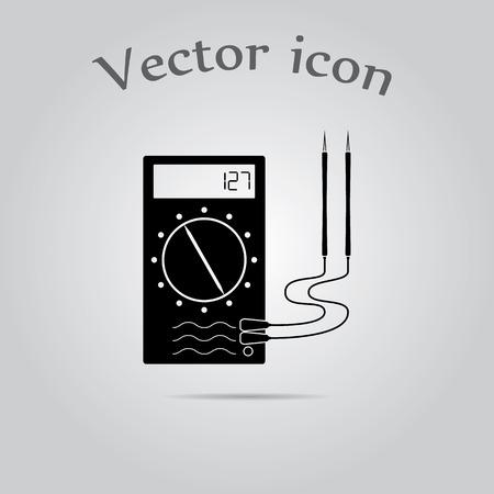 ampere: Multi meter Simple Icon. Illustration