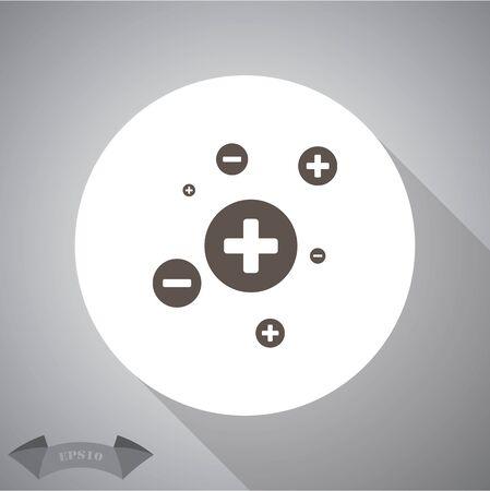 chain reaction: electron simple icon