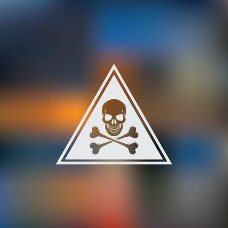 danger  high voltage: danger high voltage icon Illustration